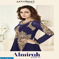 aashirwad almirah Gold Wholesale party-wear Suits Supplier