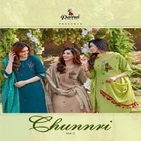 Parra Chunnri Vol-5 Wholesale Hand Work Kurti With Dupatta