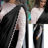 DESIGNER PARTY WARE FANCY EMBROIDERY WORK AND MOTI WORK SAREE