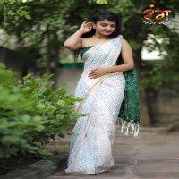 RANG  SILK Block Print Bandhej Saree Most Demanded Collection