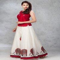 WESTERN KALAMKARI TREND DESIGNER TOP WITH SKIRT FOR INDIAN WOMAN