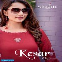 Wooglee Kesar Vol-3 Wholesale Kurti With Pant Catalogs