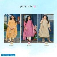 Pink Mirror Mint Wholesale Viscose Lurex Ready Made 3 piece Dress