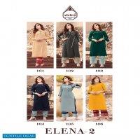 Vivils Prints Elena Vol-2 Wholesale Matka Silk Kurti With Pants