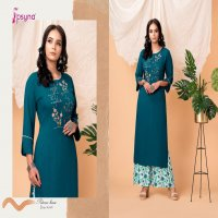PALAZZO HOUSE VOL 10 BY PSYNA RAYON STYLISH LONG TOP WITH PLAZZO WHOLESALER