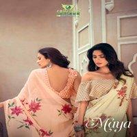 Sanskar Maya Wholesale Pure Kiva Chiffon Sarees