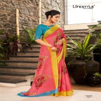 KRITIKA COTTON BY LIFESTYLE LINEN SILK ETHNIC TRADITIONAL WEAR SAREES