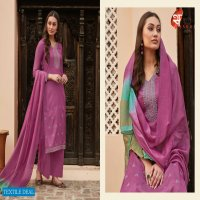 SAKHI 1101-1108 SERIES BY SWAGAT MUSLIN EMBROIDERY DESIGNER SUITS