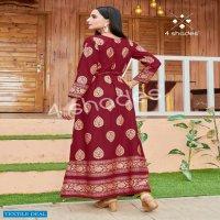 4 Shades Un Dekhi Vol-1 Wholesale Centre Cut Long Kurtis