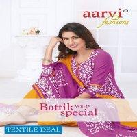 Aarvi Batik Special Vol-15 Wholesale Readymade Dress