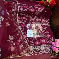 AL KHUSHBU D NO 109 GEORGETTE STYLISH PAKISTANI DESIGNER SUITS COLLECTION