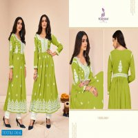 ZIL MIL BY POONAM PURE RAYON LONG GOWN WHOLESALER