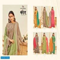 NIshant Bandhej Vol-2 Wholesale Soft Silk With Work Dress Material