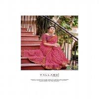 VALLABHI PRINTS TASLEEN 2 GEORGGET GRACEFUL LOOK SAREE CATALOG