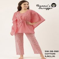 KEEV LIFESTYLES BANNO SWAGGER  DESIGNER NIGHT WEAR COTTON SINGLES