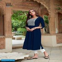 BLUE HILLS MISS INDIA VOL 5 RAYON NAYRA CUT DAILY WEAR BIG SIZES KURTIS