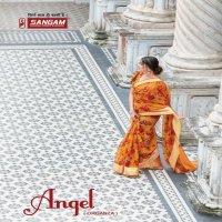 SANGAM PRINTS ANGEL ORGANZA DIGITAL PRINTED SARIS WHOLESALER