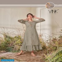 CRAFT BY VINK COTTON WITH EMBROIDERY WORK LONG STYLE SUMMER COLLECTION KURTI