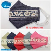 Cotton Linen Embroidery Fancy Mask Shopping