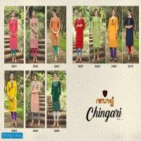 Nitisha Nx Chingari Vol-3 Wholesale Long Kurti With Mask