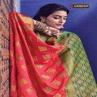 SANGAM PRINTS PRESENTS PREMLATA HEAVY BANARASI SILK DESIGNER TRADITIONAL LOOK SAREE