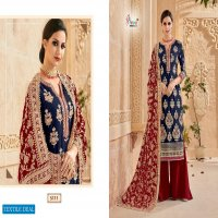 SHREE FAB MUTIYAAR GOLD GEORGETTE WITH EMBROIDERY WEDDING AND PARTY WEAR SUITS
