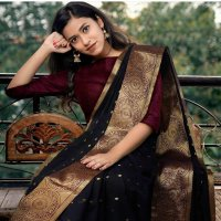 Traditional Kanchipuram Reach Gold Saree wholesale in India