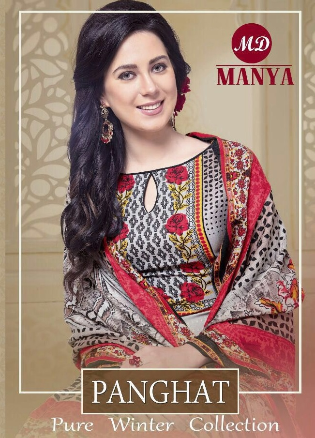 manya panghat Wholesale Winter Collection dress material