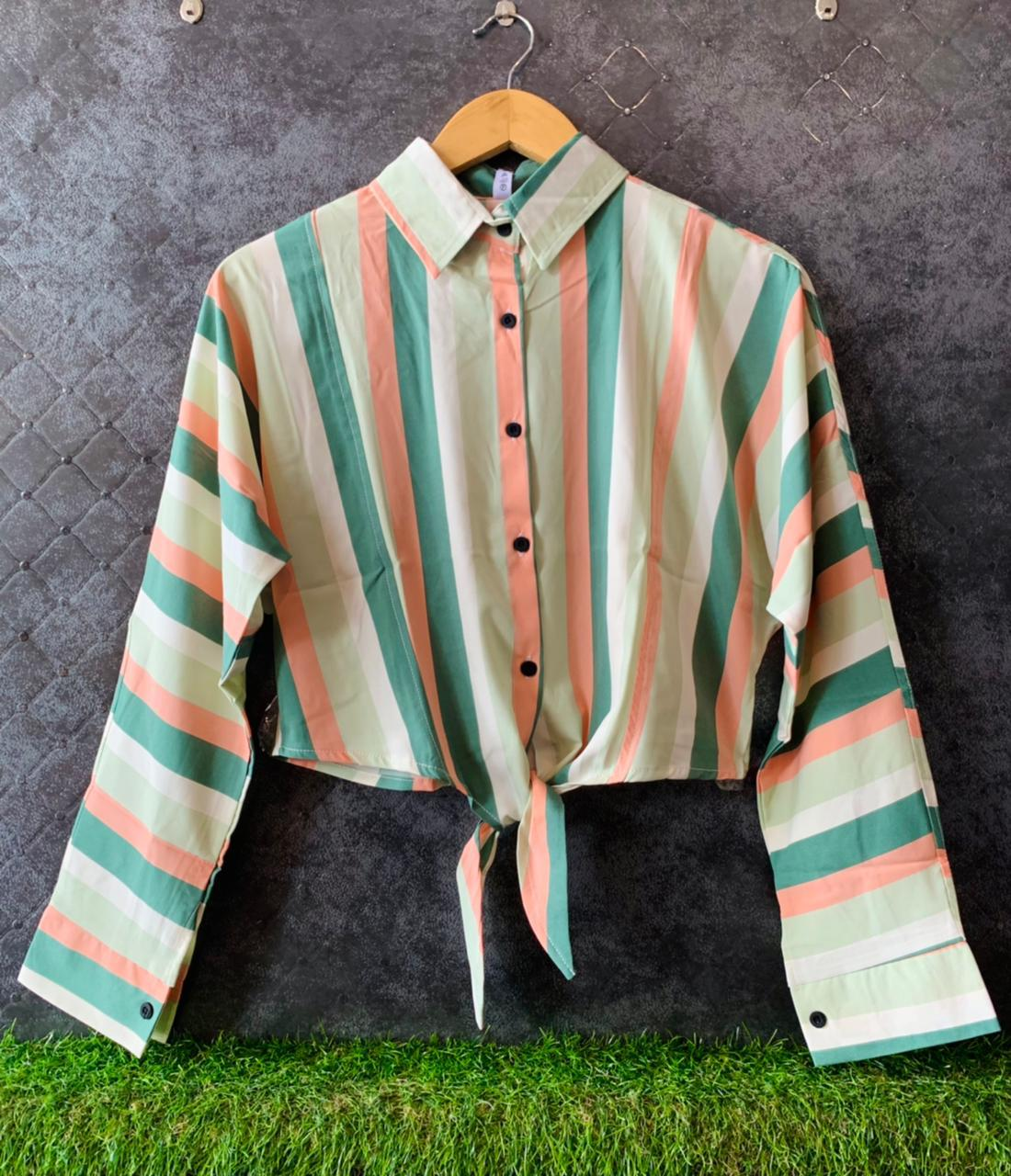 Imported stuff presents strips knot shirt