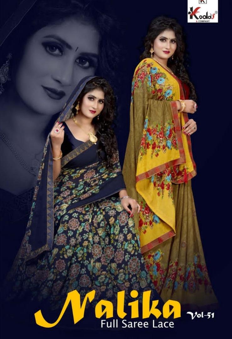 Kodas Nalika Vol-51 Wholesale Full Saree With Lace