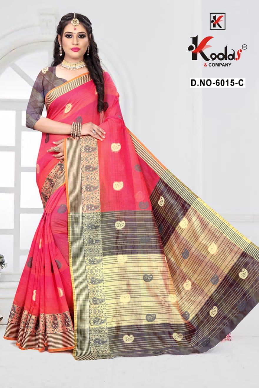 Kodas Soumya 6015 Wholesale Cotton Saree
