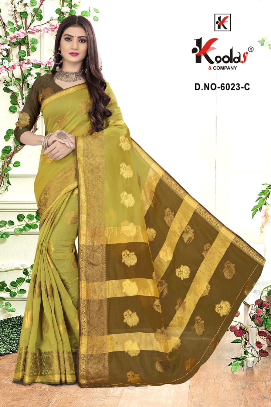Kodas Ridhima 6023 Wholesale Cotton Base Designer Saree