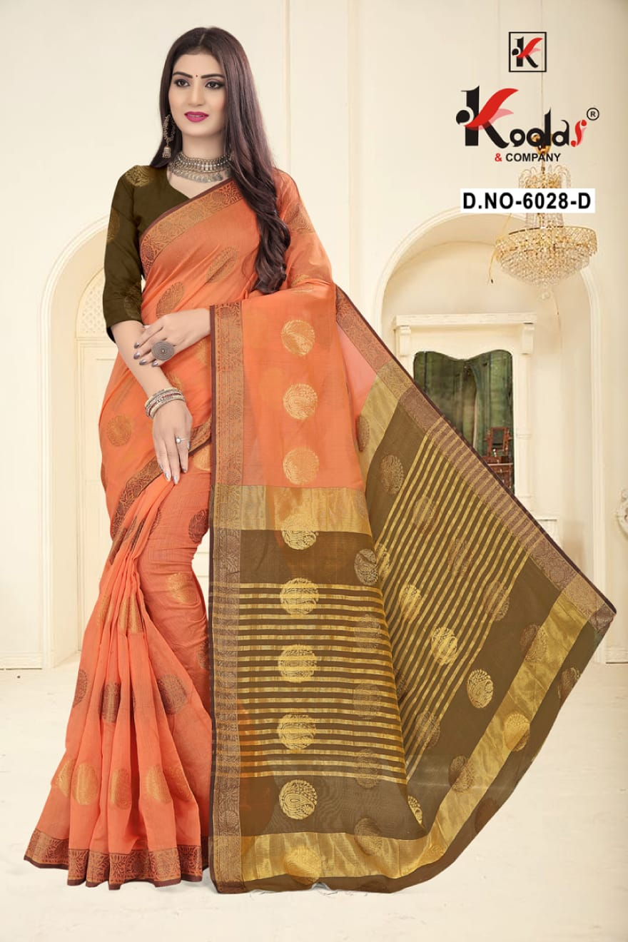 Kodas Ridhima 6028 Wholesale Cotton Base Designer Saree