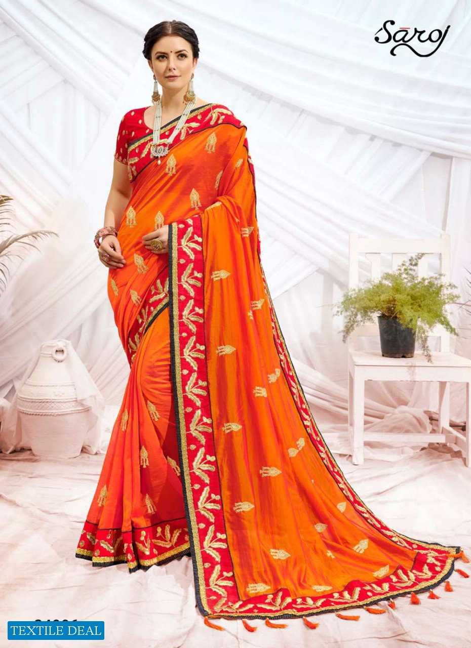 Saroj Rudraksh Wholesale heavy Dupion Sarees