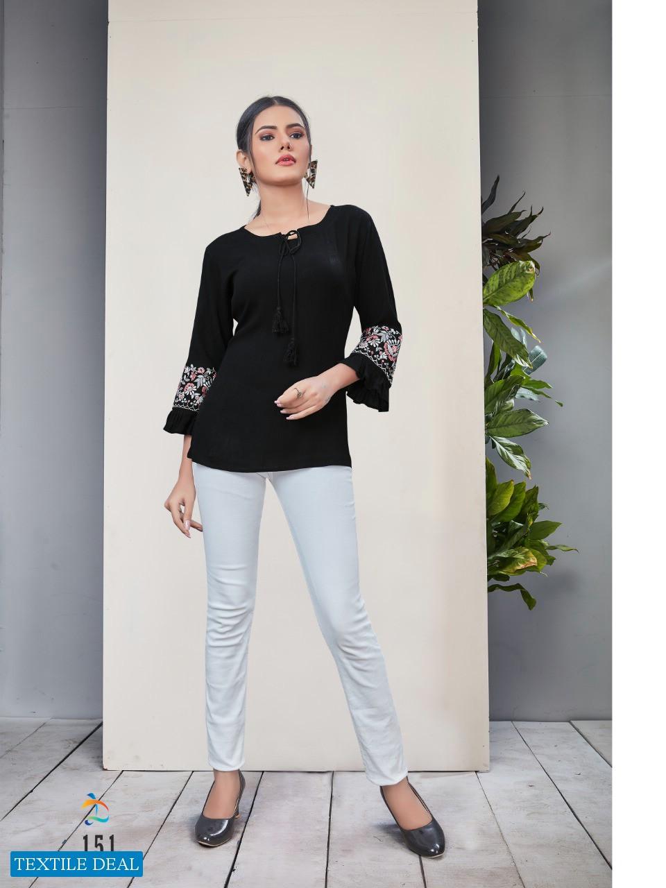 Dovi Fashion Ellen Wholesale Short Embroidered Tops