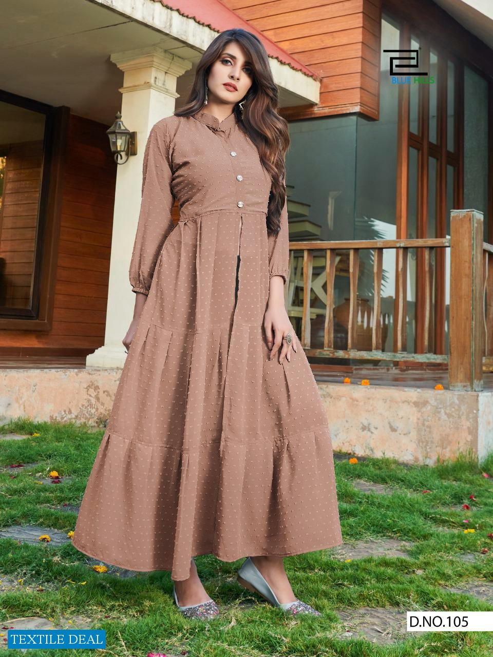Blue Hill Amayra Wholesale Long Gown With Side Cut Kurtis