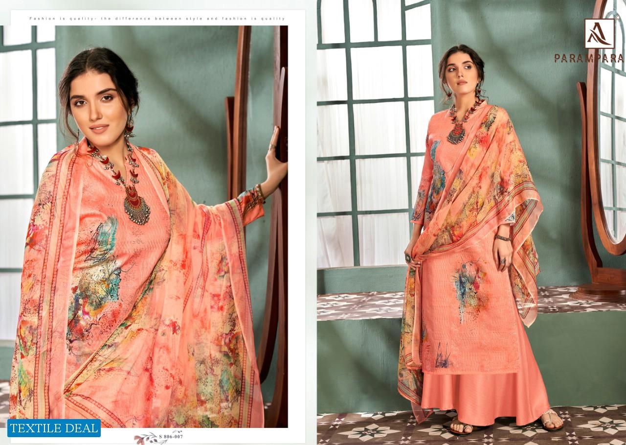 Alok Parampara Wholesale Pure Zam Cotton Self Embroidery Dress Material