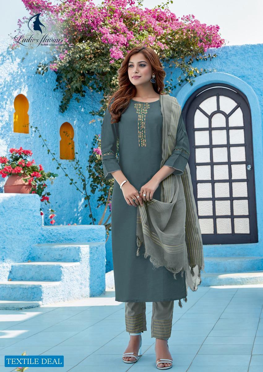 Ladies Flavours Saffron Wholesale Readymade Dress