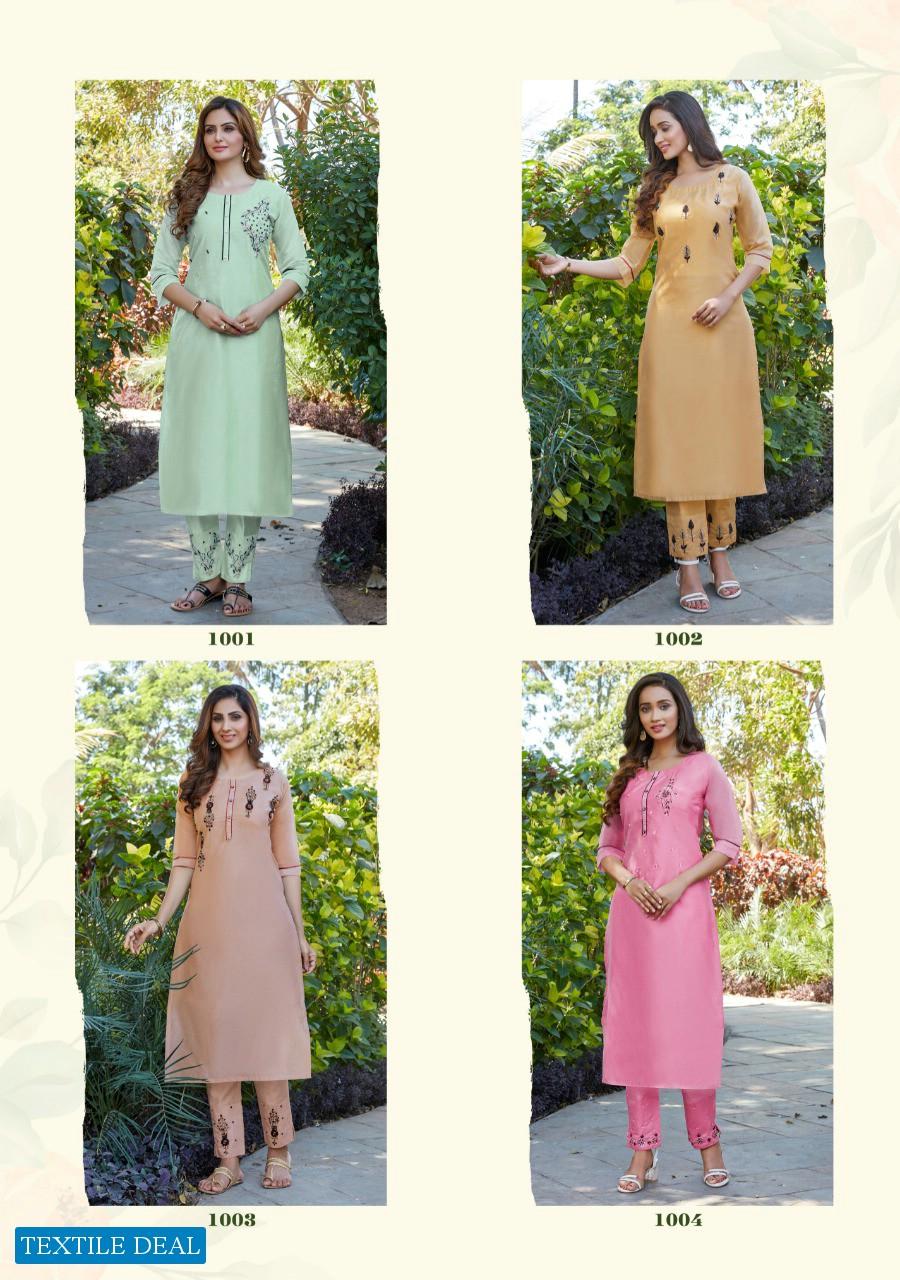Parra Albela Vol-1 Wholesale Casual Shopping Model Chanderi With Khatli Work Kurti With Pants