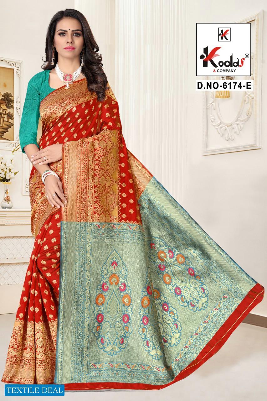 Kodas Atrangi 6174 Wholesale Silk Base Rich Pallu Sarees