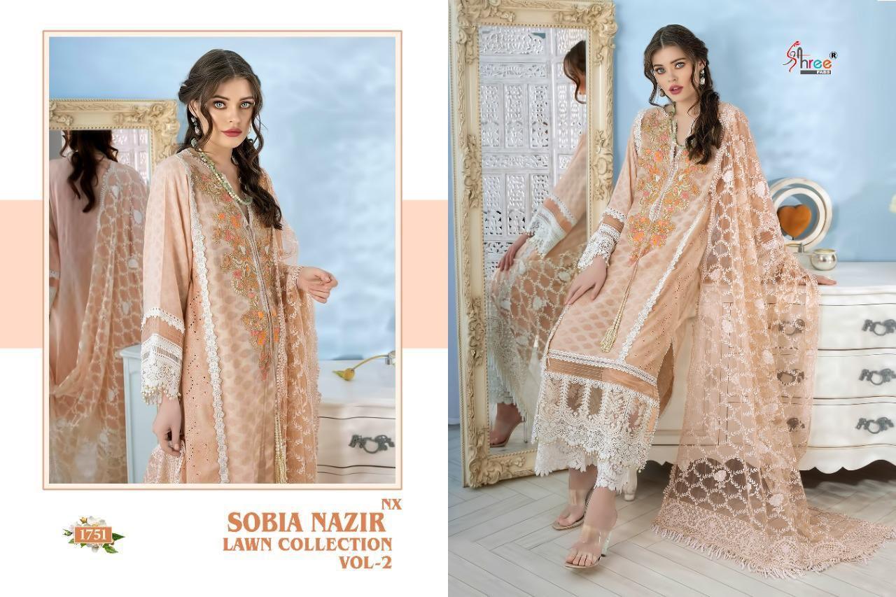 Shree Fab Sobia Nazir lawn Collection Vol-2 NX Wholesale Pakistani Concept Dress