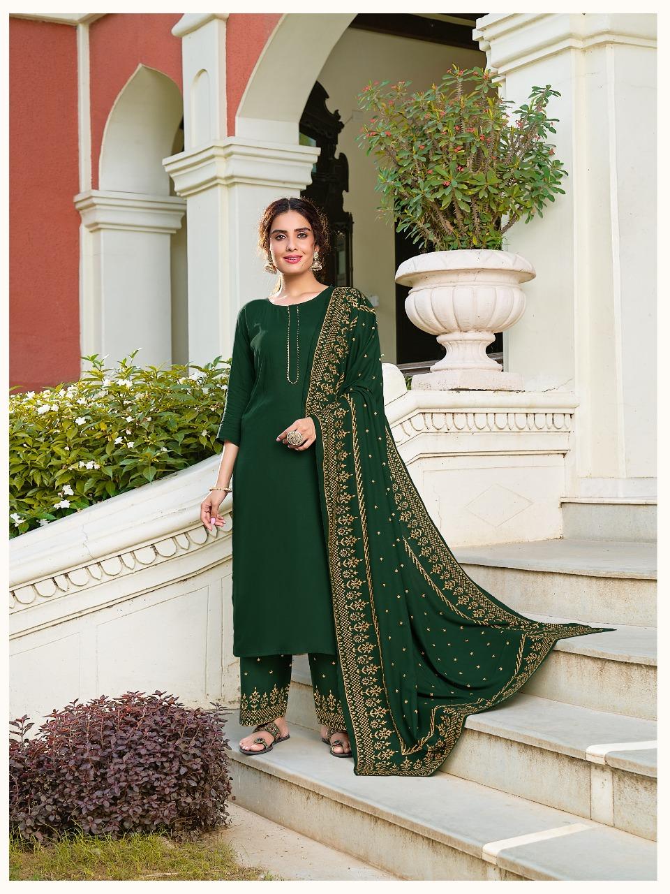 Banwery Panghat Wholesale Full Stitched 3 piece Salwar Kameez