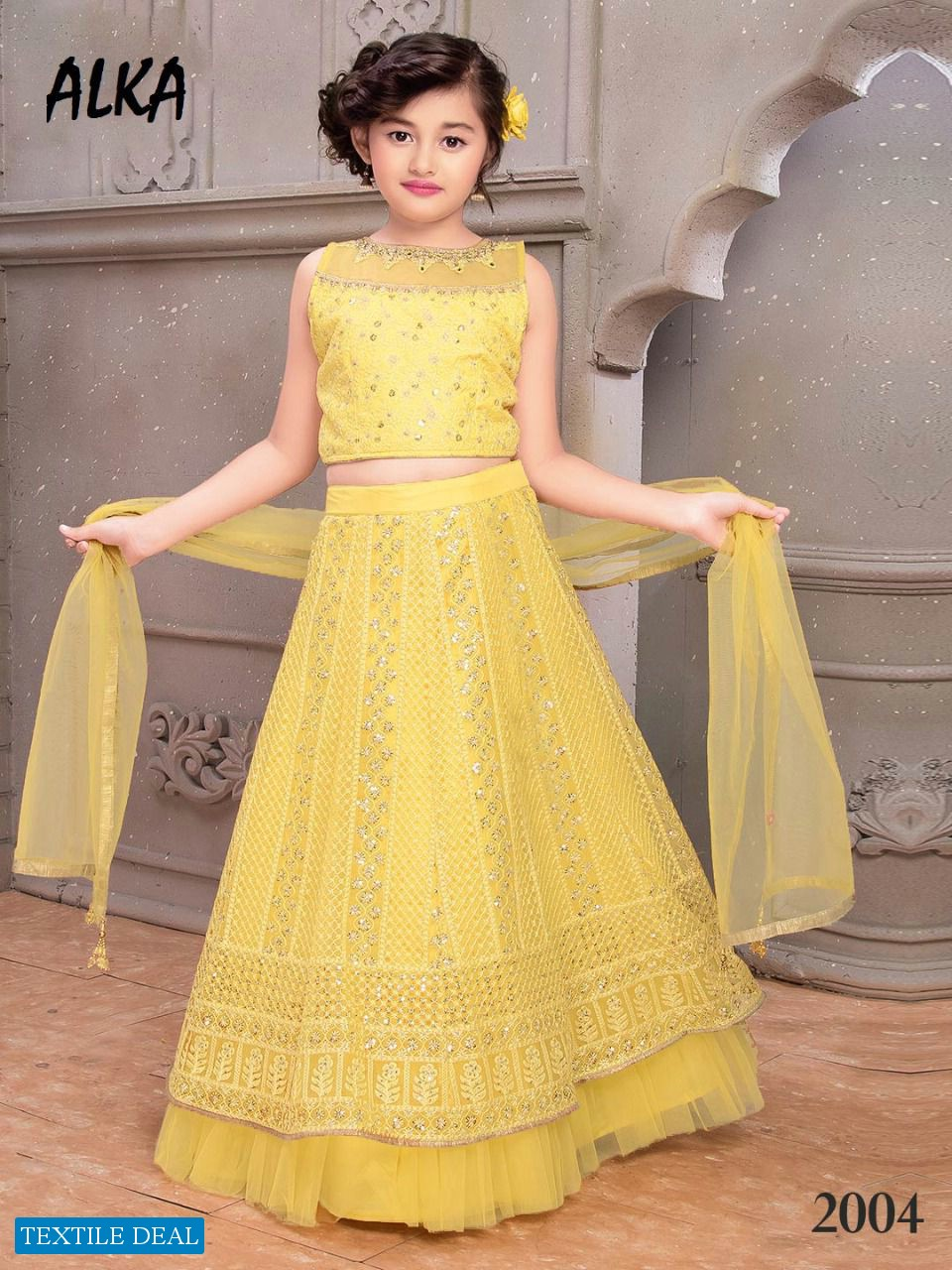 Alka Nandita Wholesale Kidswear Lehengas