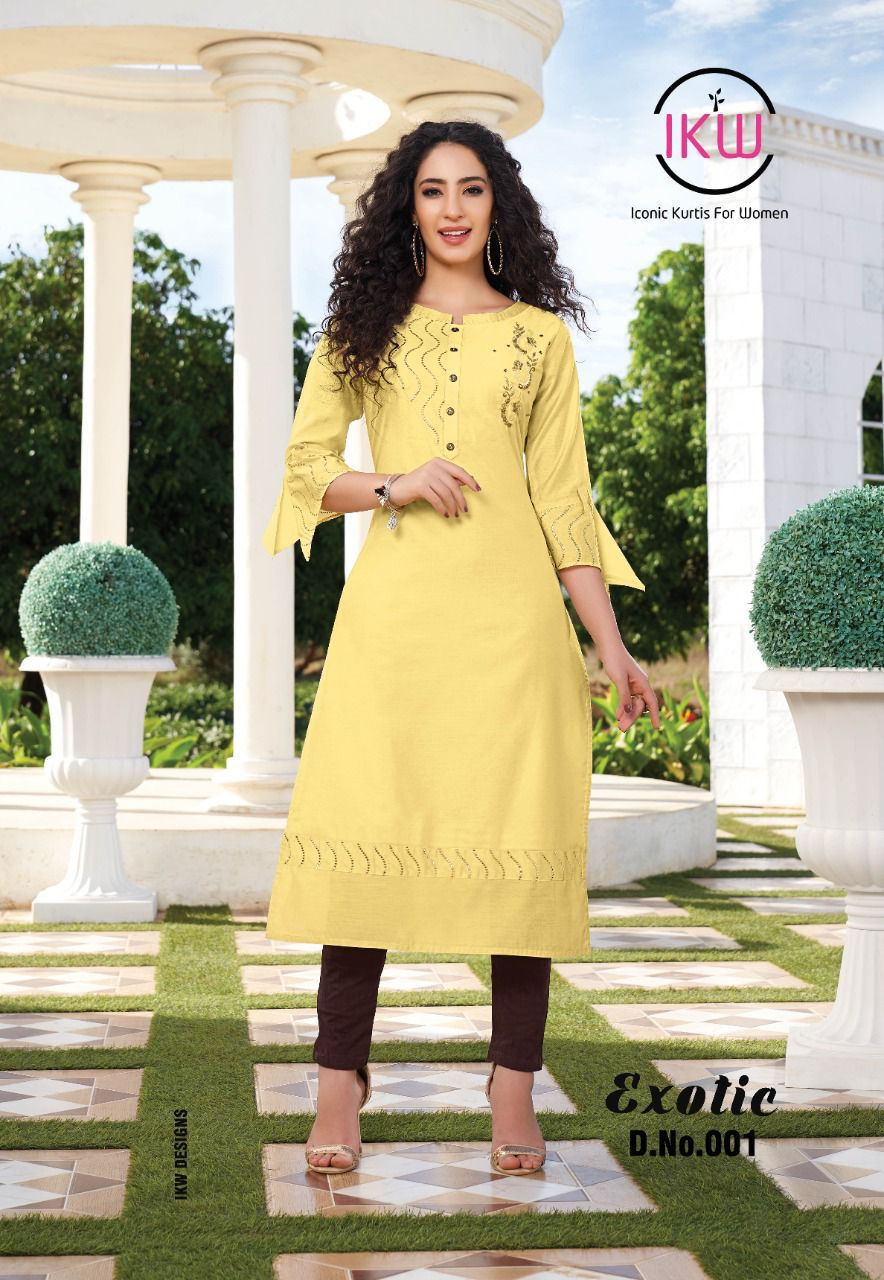 IKW Exotic Vol-1 wholesale Long Kurtis Collection