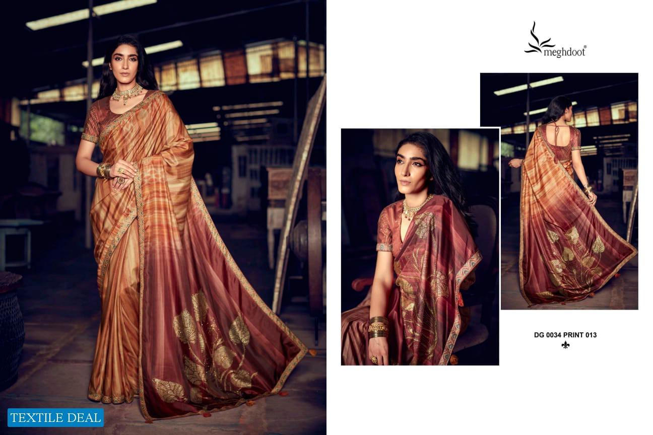 Meghdoot Pandora Wholesale Swaroski Work Indian Sarees