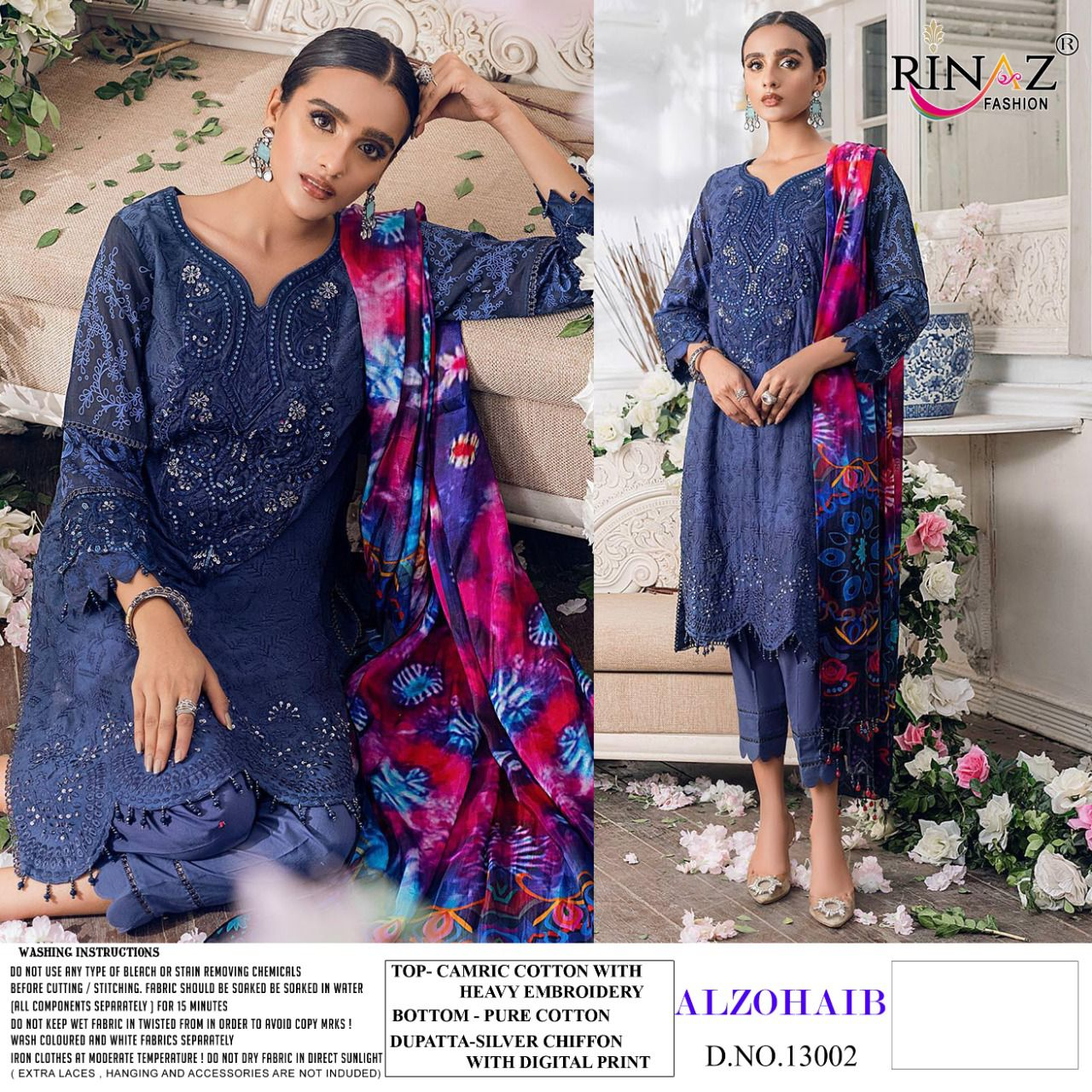 Rinaz Alzohaib Wholesale Pakistani Concept Dress