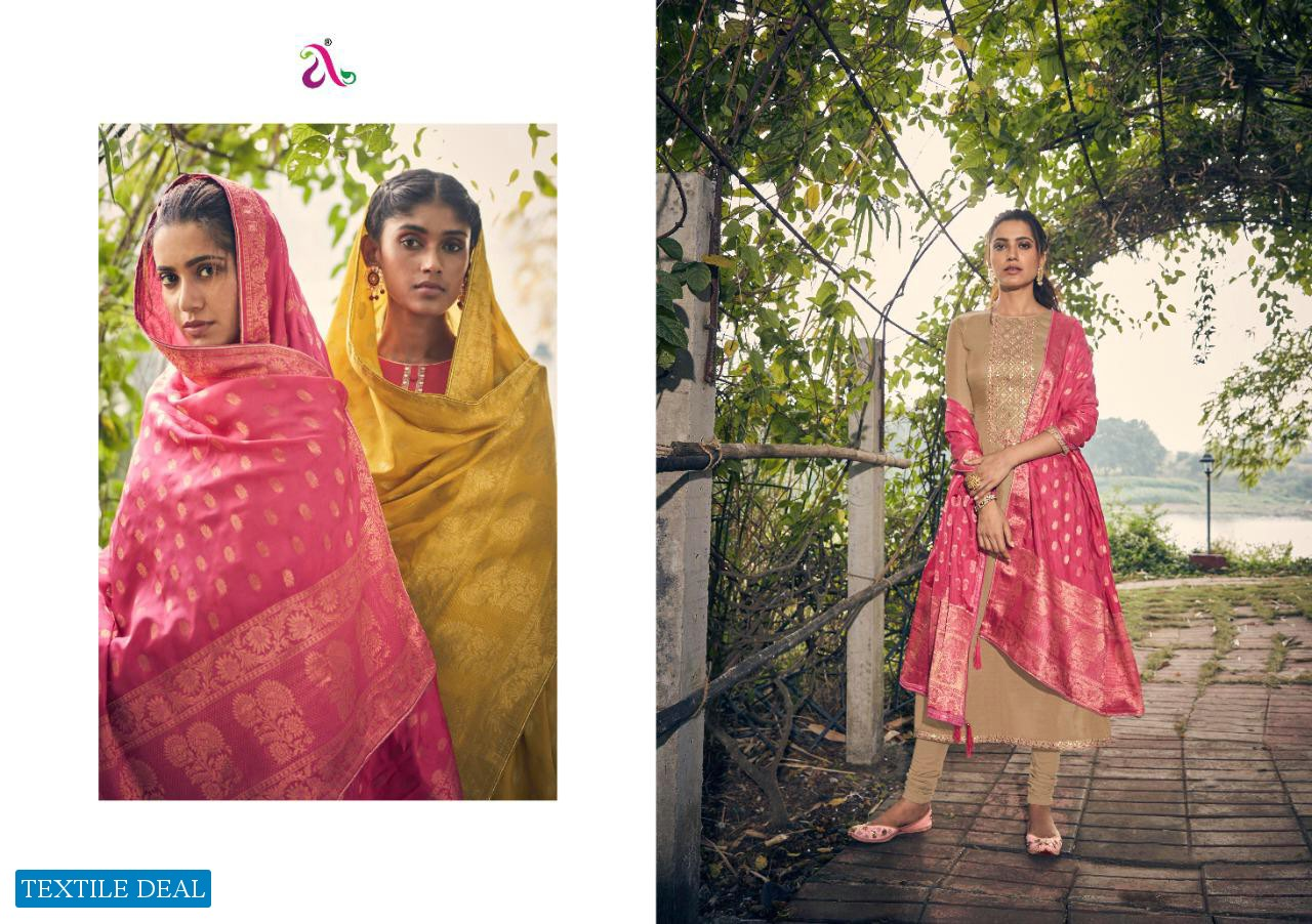ANGROOP PLUS CHARISSA TUSSAR SILK CLASSICAL DESIGNER SUITS COLLECTION