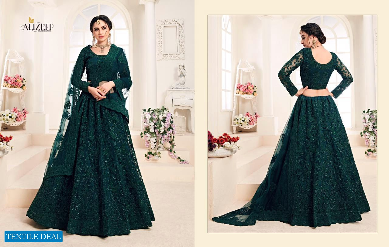Alizeh Bridal Heritage Colour Saga Wholesale Shopping Designer Lehengas