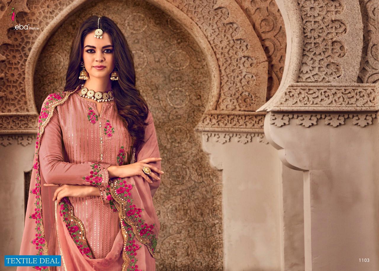 Eba Mount Black Vol-4 Wholesale Shopping heavy Work Salwar Suits