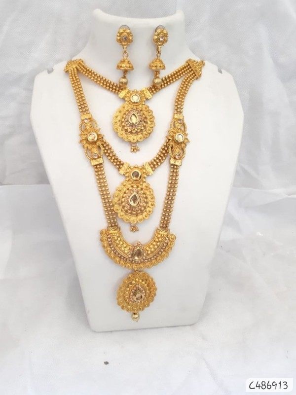 Exquisite Gold Plated Necklace wholesale in india